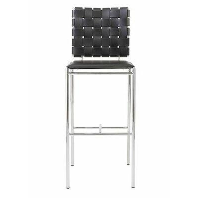 Morey 30 Bar Stool Bar Stool Upholstery: Black