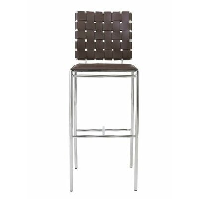 Morey 30 inch Bar Stool Bar Stool Upholstery: Brown