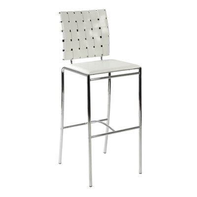 Berard 30 Bar Stool Bar Stool Upholstery: White