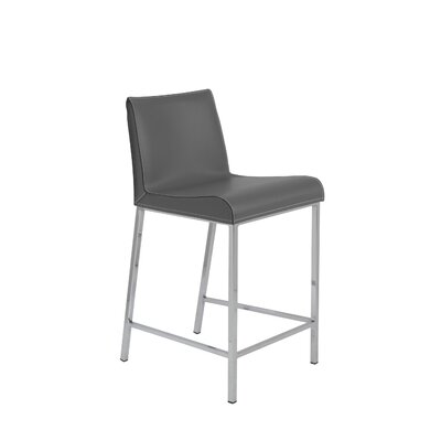 Dorothy 24 Bar Stool Upholstery: Gray
