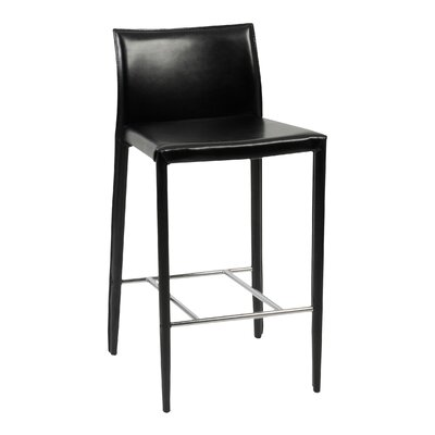 Alissa 26 inch Bar Stool Upholstery: Black