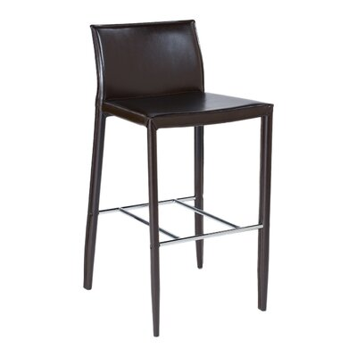 Earhart 26 Bar Stool Upholstery: Brown