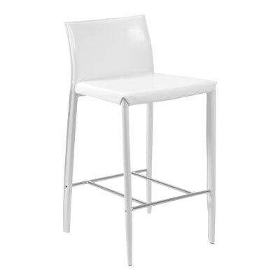 Earhart 26 Bar Stool Upholstery: White