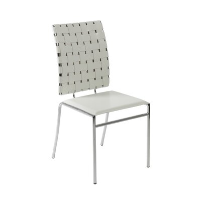 Amundsen Genuine Leather Upholstered Dining Chair Upholstery: White