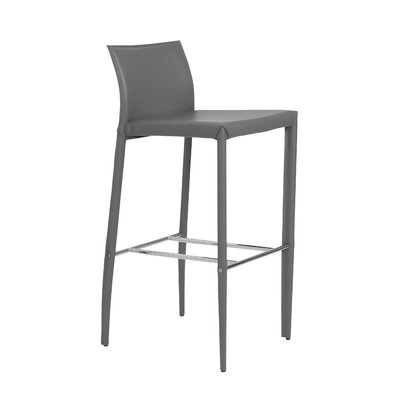 Earhart 29.9 Bar Stool Upholstery: Gray
