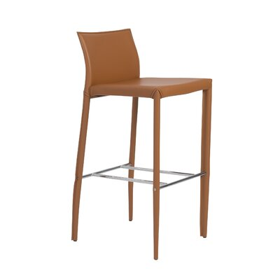 Bissell 29.9 Bar Stool Upholstery: Cognac