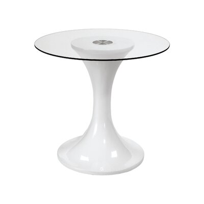 Bacher End Table Glass Top Depth: 36