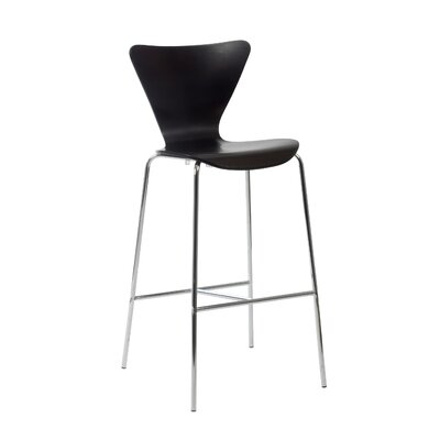 Joyce 30 inch Bar Stool Finish: Wenge