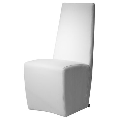 Arche Contemporary Upholstered Parsons Chair (Set of 2) Color: White