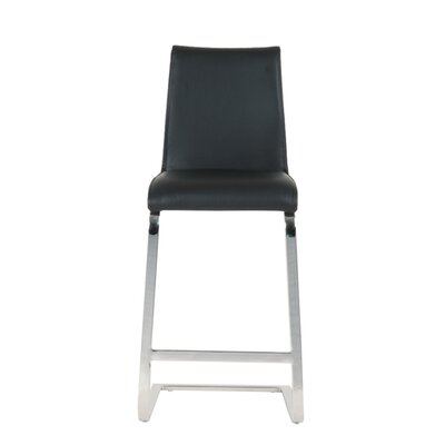 Lesly 26 Bar Stool (Set of 2) Upholstery: Black