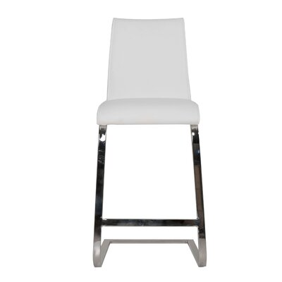 Arche 26 Bar Stool (Set of 2) Upholstery: White