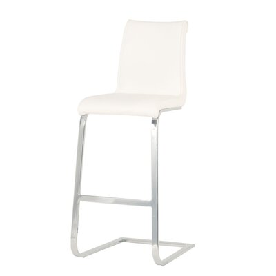 Arche 30 Bar Stool (Set of 2) Upholstery: White
