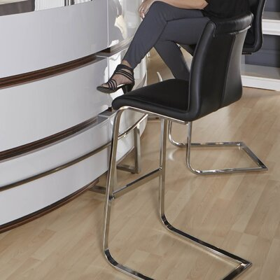 Lesly 30 Bar Stool (Set of 2) Upholstery: Black