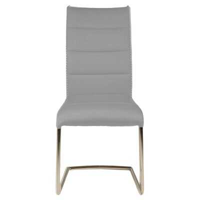 Ivory Side Chair (Set of 2) Upholstery: Ash Grey