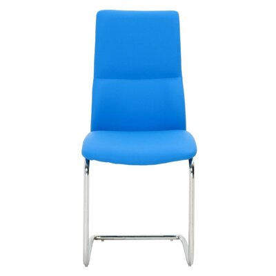 Lesly Side Chair (Set of 2) Upholstery: Blue
