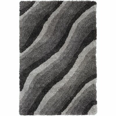 Annie Abstract Hand-Tufted Black/Ivory Area Rug Rug Size: Rectangle 5 x 76