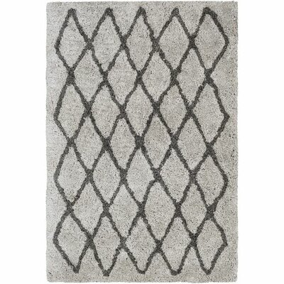 Annie Trellis Hand-Tufted Ivory/Black Area Rug Rug Size: Rectangle 5 x 76
