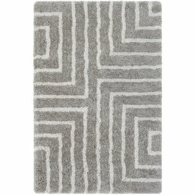 Annie Geometric Hand-Tufted Taupe/Ivory Area Rug Rug Size: Rectangle 8 x 10