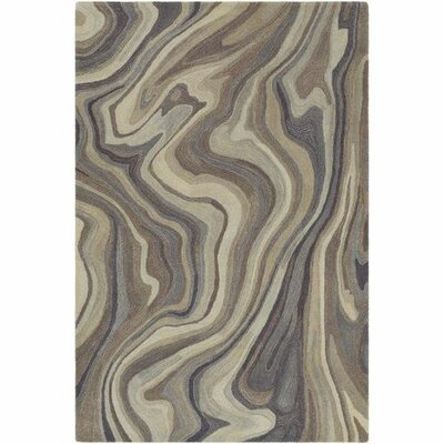 Annmarie Hand-Tufted Navy/Medium Gray Area Rug Rug Size: 2 x 3