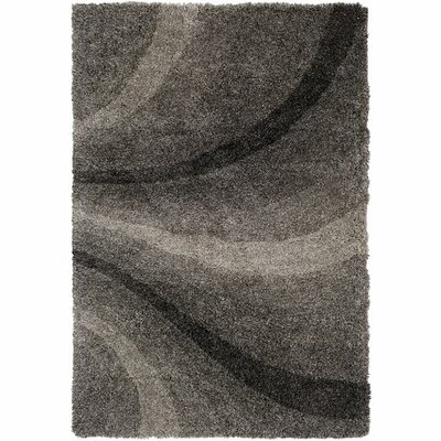Annie Hand-Tufted Black/Ivory Area Rug Rug Size: Rectangle 5 x 76