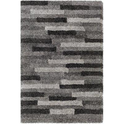 Annie Hand-Tufted Ivory/Black Area Rug Rug Size: Rectangle 5 x 76