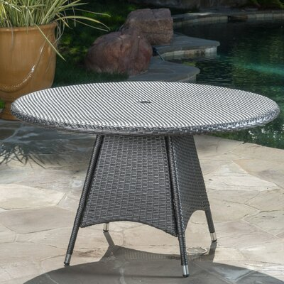 Moonya Wicker Round Bistro Table