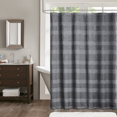 Tamia Shower Curtain Color: Gray