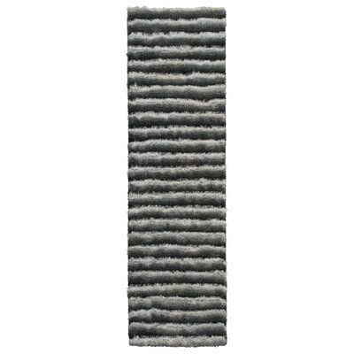 Chiana Hand-Tufted Graphite Area Rug Rug Size: Rectangle 36 x 56