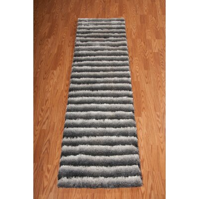 Chiana Hand-Tufted Graphite Area Rug Rug Size: 56 x 75