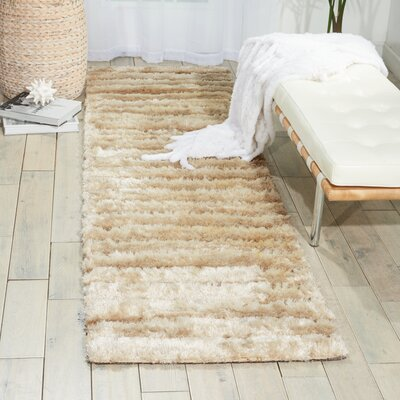 Chiana Hand-Tufted Paster Mink Shag Rug Rug Size: Rectangle 36 x 56