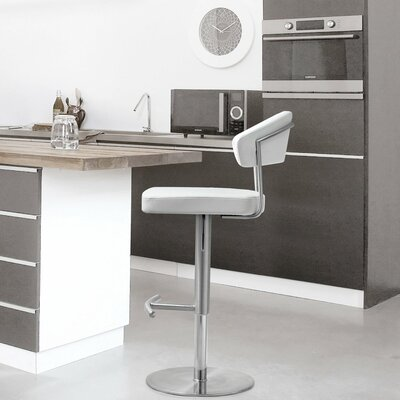 Rivka Adjustable Height Swivel Bar Stool with Cushion