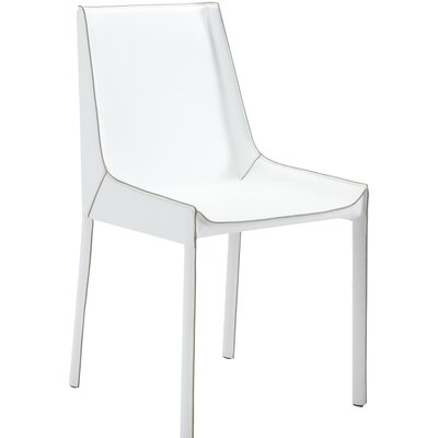 Shaula Genuine Leather Upholstered Dining Chair