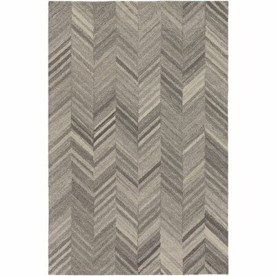 Jayleen Hand-Tufted Cream/White Area Rug Rug Size: 5 x 76