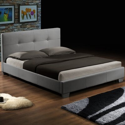 Ayana Upholstered Platform Bed Size: Twin, Finish: White