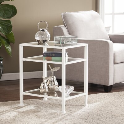 Casas Metal/Glass End Table