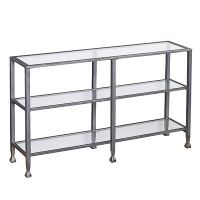 Kailani Metal/Glass 3-Tier Console Table/Media Stand - Silver Color: Silver