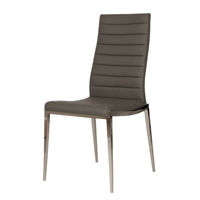 Arche Solid Back Parsons Chair (Set of 2) Upholstery: Graphite