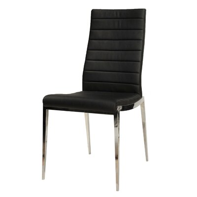 Arche Solid Back Side Chair (Set of 2) Upholstery: Black