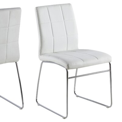 Bourke Upholstered Side Chair Upholstery: White