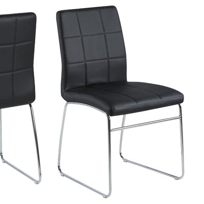 Bourke Upholstered Side Chair Upholstery: Black