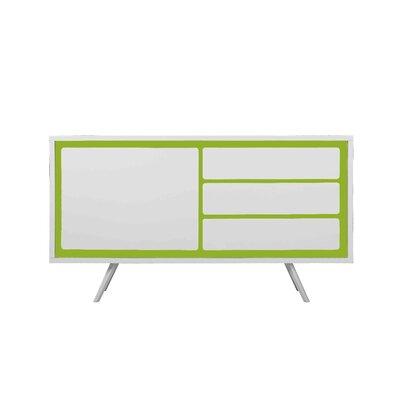 Castro Buffet Table Color: White/Green