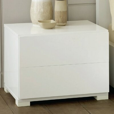 Sommerset Contemporary 2 Drawer Nightstand