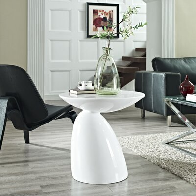 Jeffrey End Table Color: White