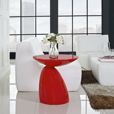 Jeffrey End Table Color: Red