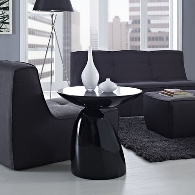 Jeffrey End Table Color: Black