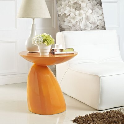 Jeffrey End Table Color: Orange