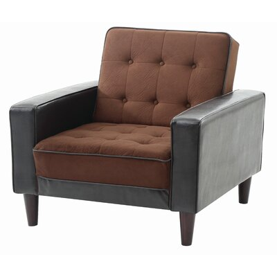 Navi Armchair Upholstery: Chocolate Suede/Dark Brown