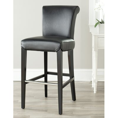 Vandergrift 30 Bar Stool Upholstery: Black