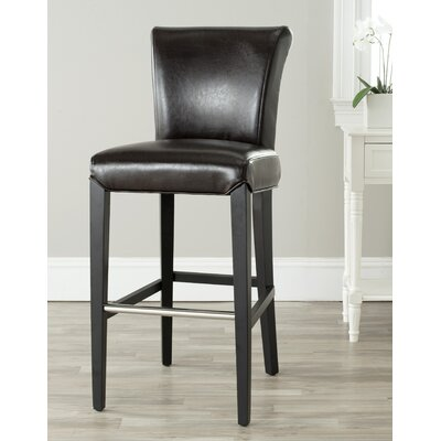 Vandergrift 30 Bar Stool Upholstery: Brown