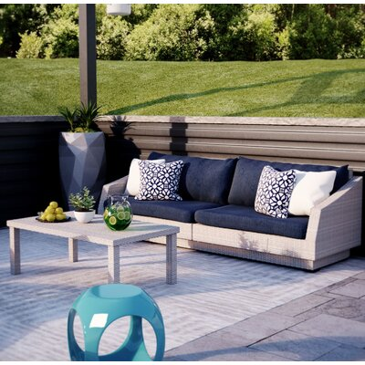 Alfonso 2 Piece Deep Seating Group with Cushion Fabric: Navy